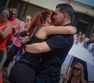 Army Ranger surprise engagement at an Honor361 event.